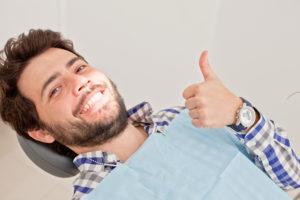 man in the dental chair